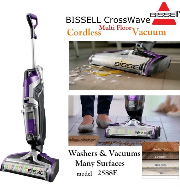 bissell crosswave cordless 2588f