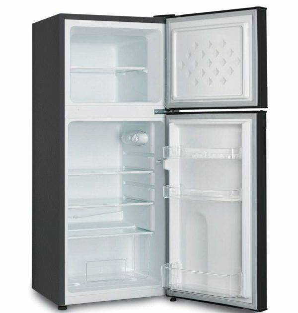 CHiQ-120L-Two-Door-Bar-Fridge-CTM119BN-open-angle-high